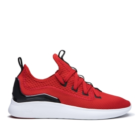 Supra Mens FACTOR Risk Red/Black/White Low Top Shoes | CA-84293